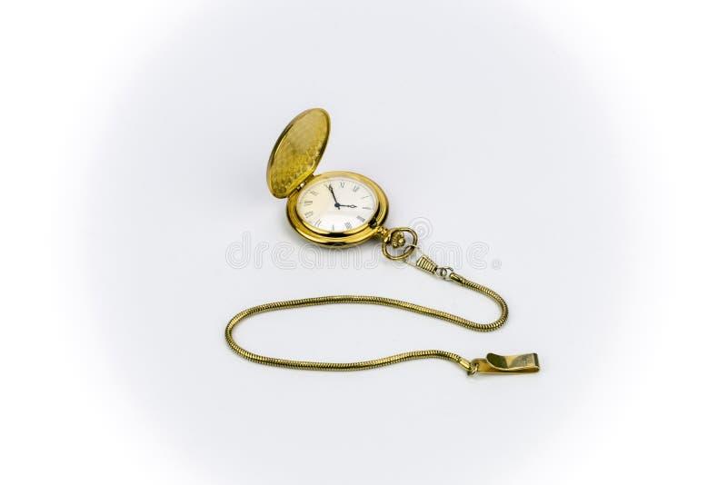 χρυσό παλαιό ρολόι τσεπών στοκ φωτογραφία με δικαίωμα ελεύθερης χρήσης