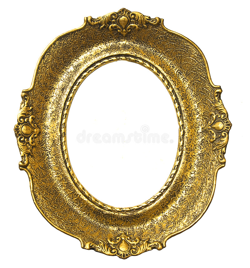 χρυσό παλαιό oval πλαισίων στοκ φωτογραφία με δικαίωμα ελεύθερης χρήσης