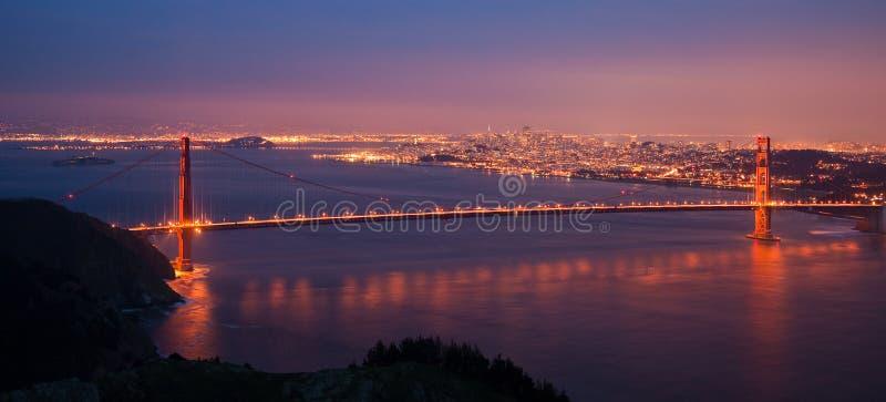 χρυσό πανόραμα πυλών γεφυρ στοκ φωτογραφία με δικαίωμα ελεύθερης χρήσης