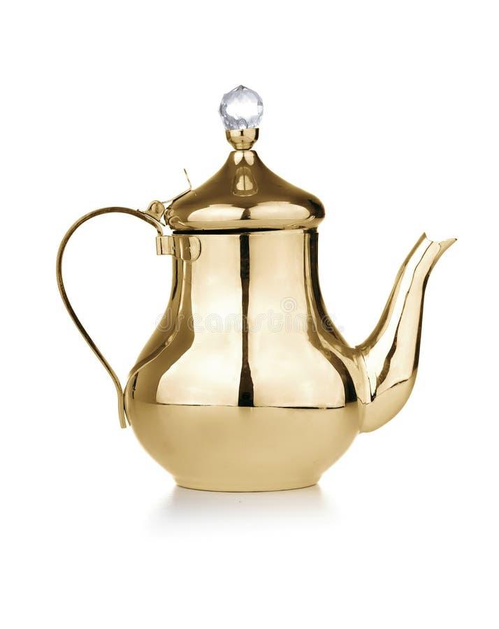 Χρυσό παλαιό Teapot στοκ εικόνες με δικαίωμα ελεύθερης χρήσης