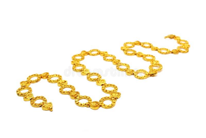 χρυσό περιδέραιο Στοκ εικόνα με δικαίωμα ελεύθερης χρήσης