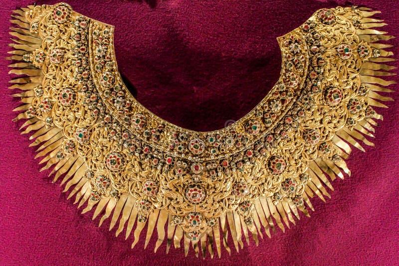 Χρυσό περιδέραιο αρχαίο στοκ φωτογραφίες
