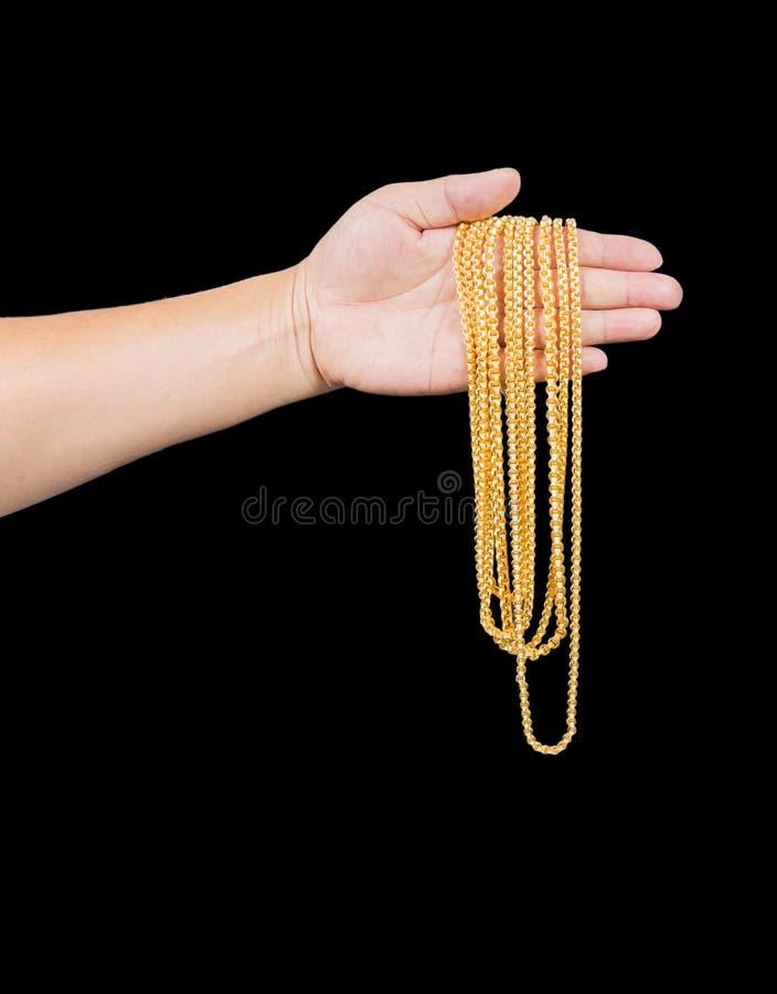 χρυσό περιδέραιο στοκ φωτογραφία με δικαίωμα ελεύθερης χρήσης