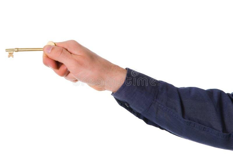 χρυσό πλήκτρο στοκ εικόνα