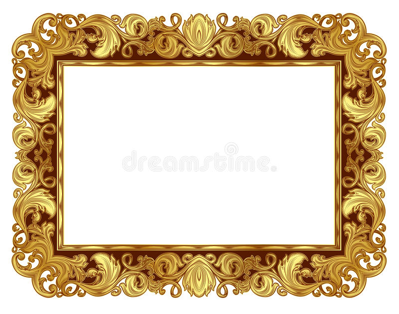Χρυσό πλαίσιο απεικόνιση αποθεμάτων
