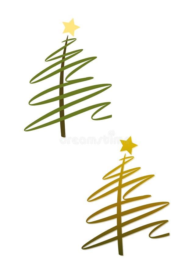 χρυσό πράσινο καθορισμέν&omicron διανυσματική απεικόνιση