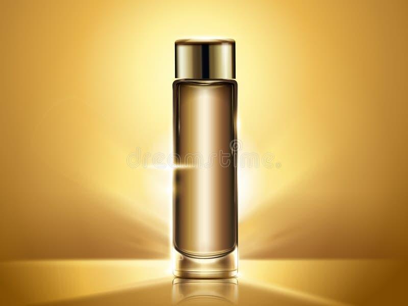 Χρυσό πρότυπο μπουκαλιών τονωτικού απεικόνιση αποθεμάτων