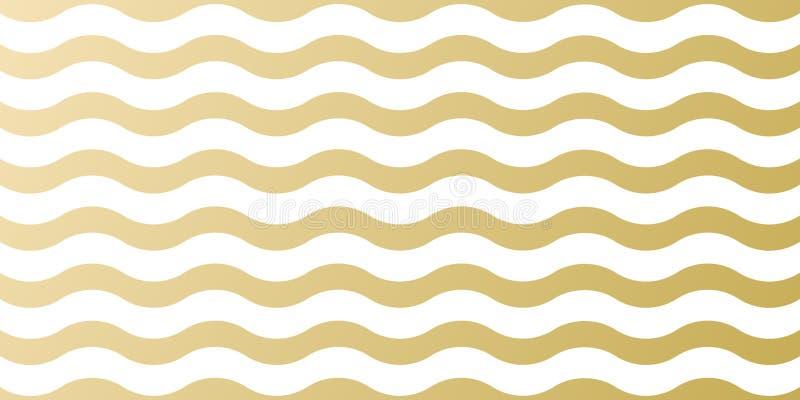 Χρυσό πρότυπο υποβάθρου σχεδίων Χριστουγέννων για το σχέδιο ευχετήριων καρτών Διανυσματικό χρυσό κύμα και άσπρο αφηρημένο σχέδιο  διανυσματική απεικόνιση