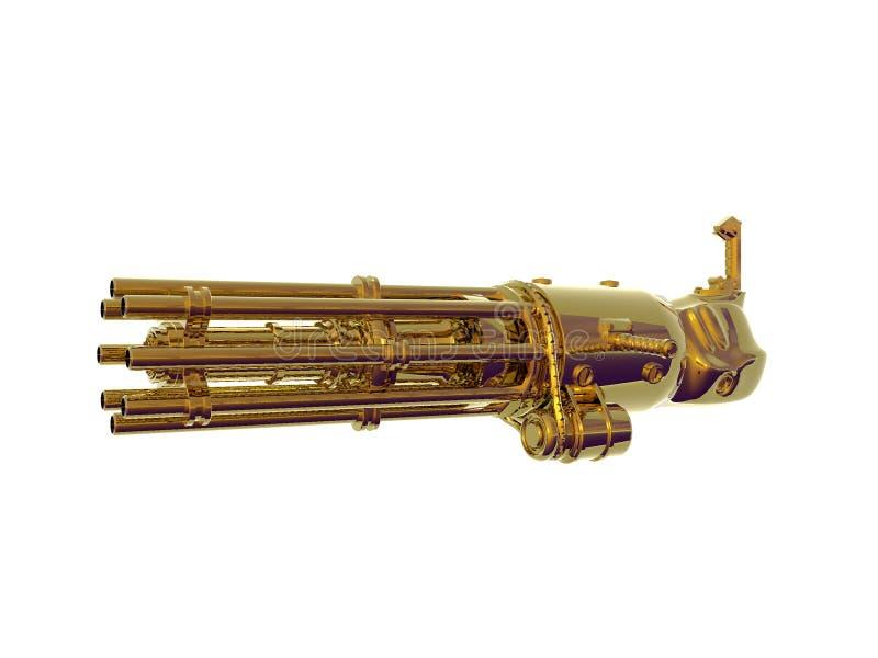 χρυσό πυροβόλο όπλο αλυ&si διανυσματική απεικόνιση
