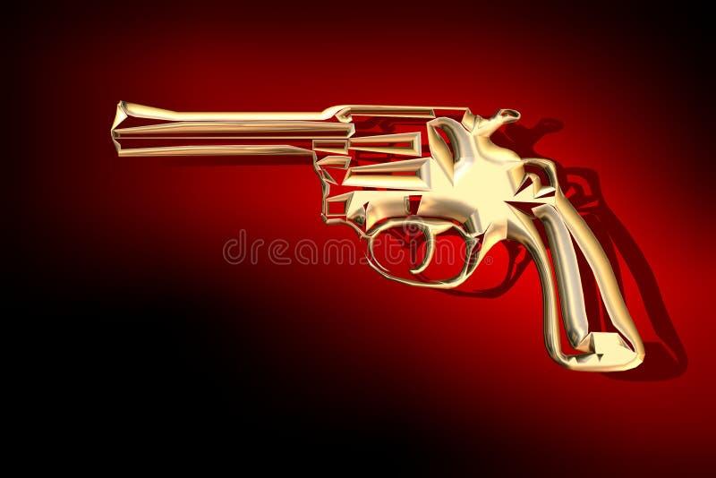 χρυσό πυροβόλο όπλο απεικόνιση αποθεμάτων