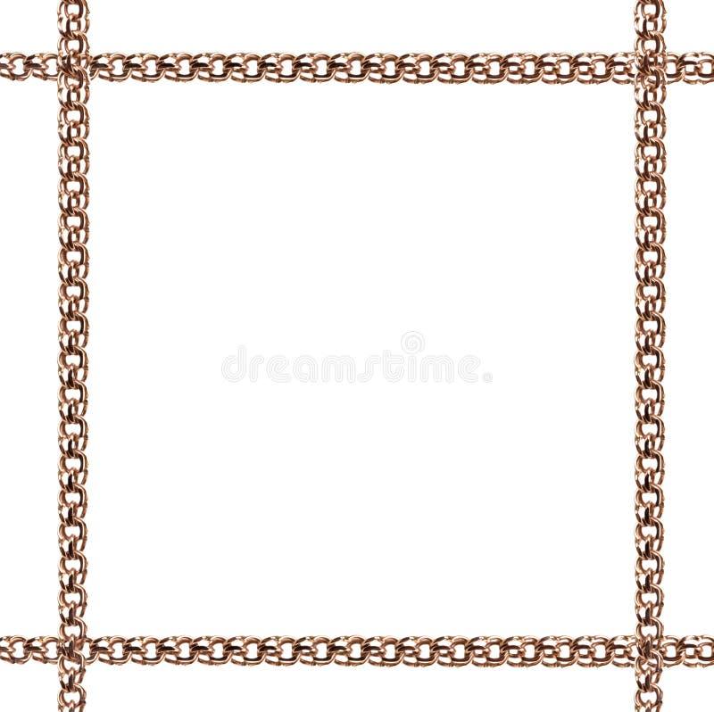 Χρυσό πλαίσιο από την αλυσίδα στοκ εικόνα