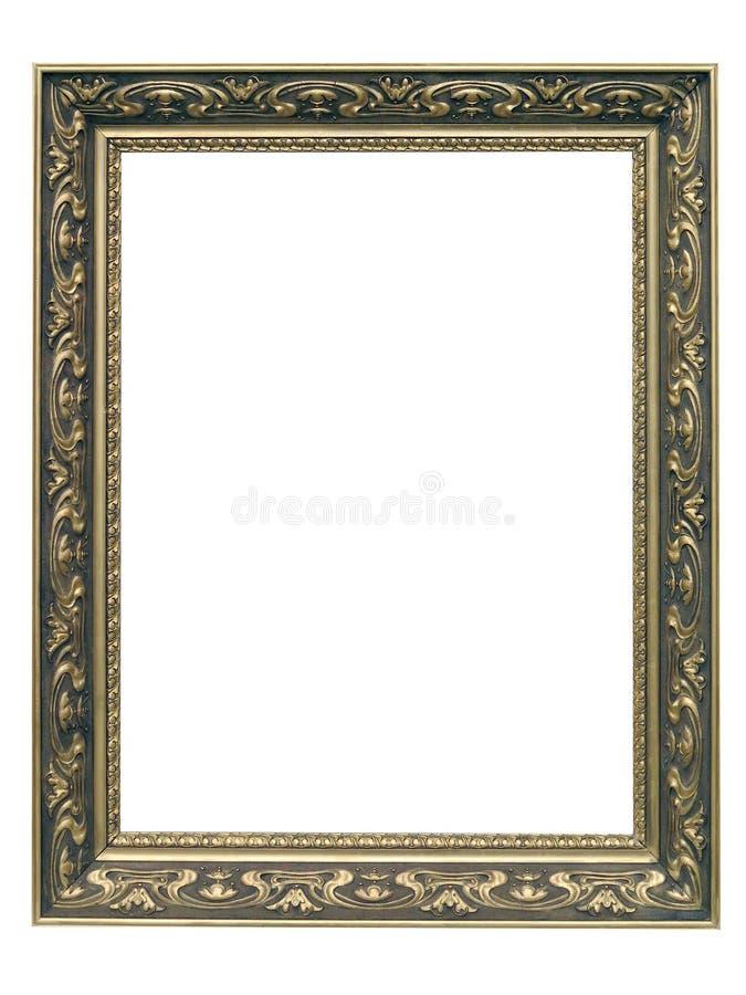 Χρυσό πλαίσιο Nouveau τέχνης στοκ εικόνα