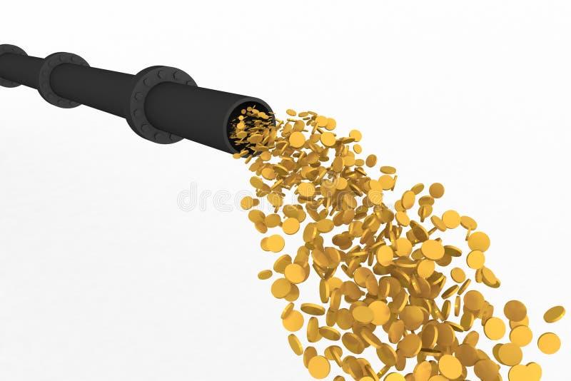 χρυσό ρεύμα διανυσματική απεικόνιση