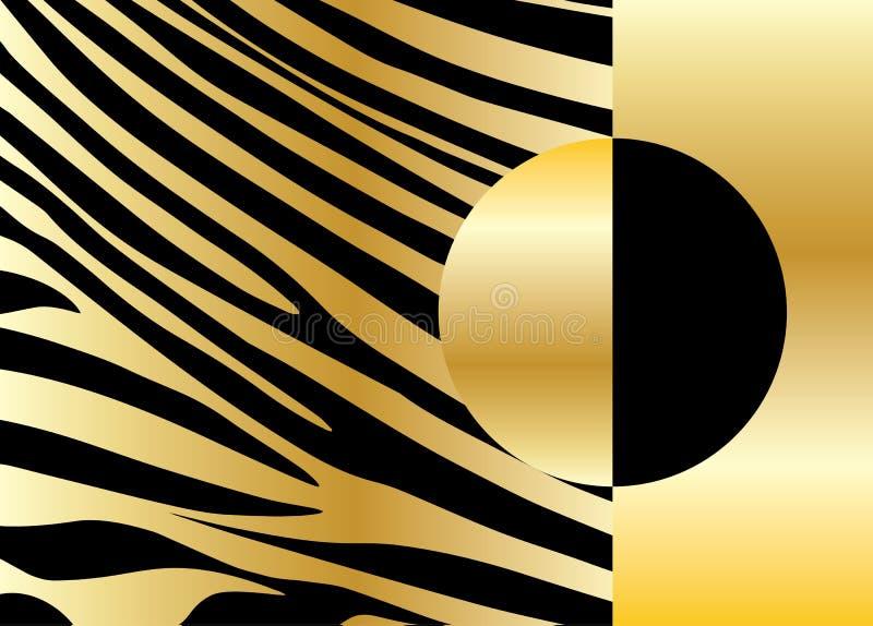 Χρυσό ριγωτό σχέδιο απεικόνιση αποθεμάτων