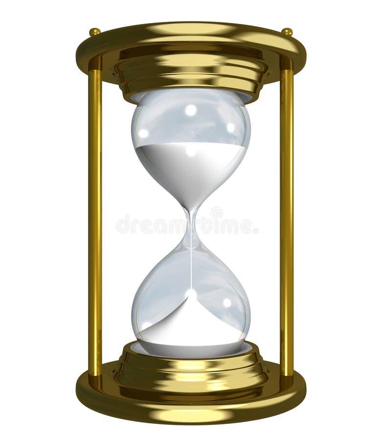 χρυσό ρολόι άμμου ελεύθερη απεικόνιση δικαιώματος