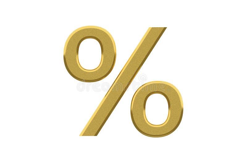 χρυσό σημάδι τοις εκατό ελεύθερη απεικόνιση δικαιώματος