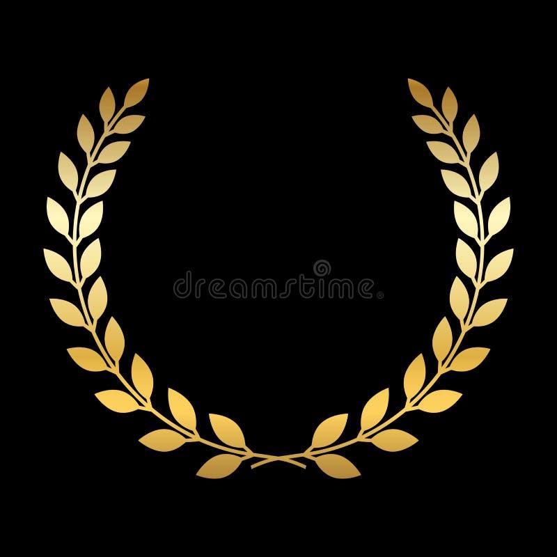 Χρυσό στεφάνι δαφνών ελεύθερη απεικόνιση δικαιώματος