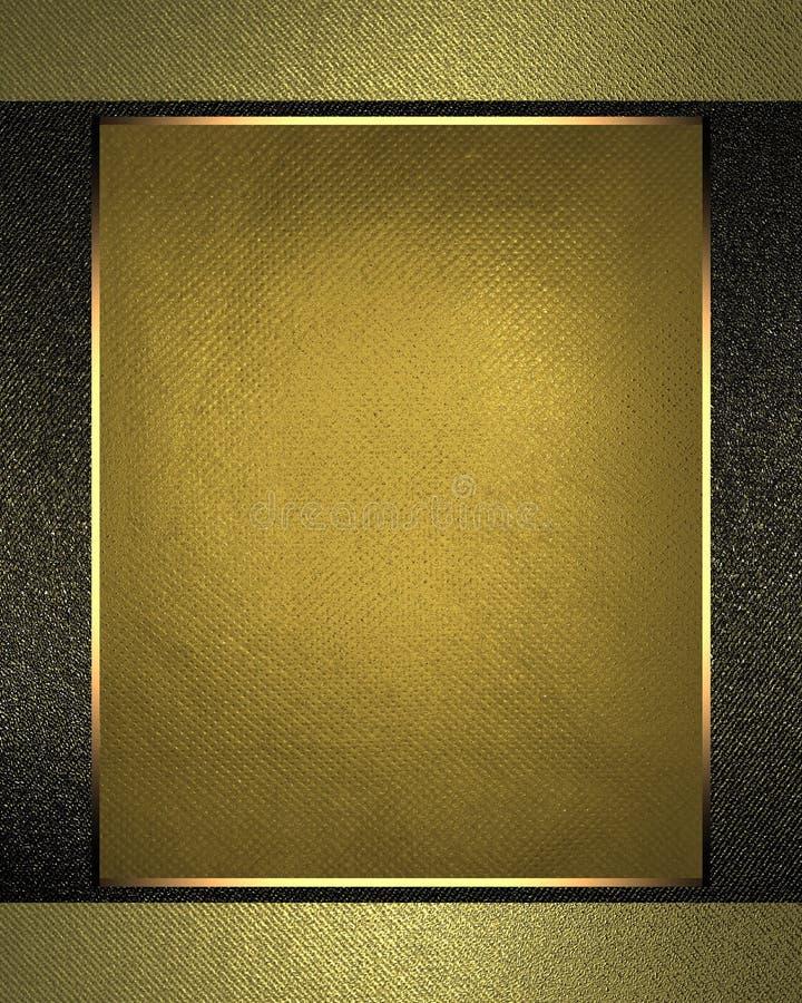 Χρυσό στοιχείο πινακίδων για το σχέδιο Πρότυπο για το σχέδιο διάστημα αντιγράφων για το φυλλάδιο αγγελιών ή την πρόσκληση ανακοίν απεικόνιση αποθεμάτων