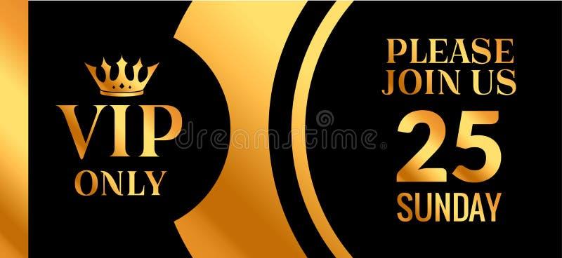 Χρυσό σχέδιο καρτών πρόσκλησης ασφαλίστρου VIP κομμάτων Γεμισμένο πιστοποιητικό εμβλημάτων κομμάτων VIP λέσχη με τη διακόσμηση κο ελεύθερη απεικόνιση δικαιώματος