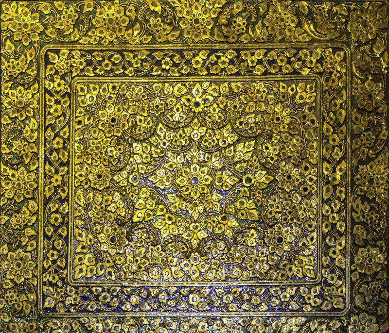 Χρυσό ταϊλανδικό ύφος τέχνης στοκ φωτογραφίες με δικαίωμα ελεύθερης χρήσης