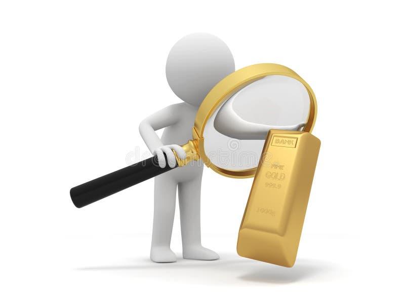 Χρυσό τούβλο απεικόνιση αποθεμάτων