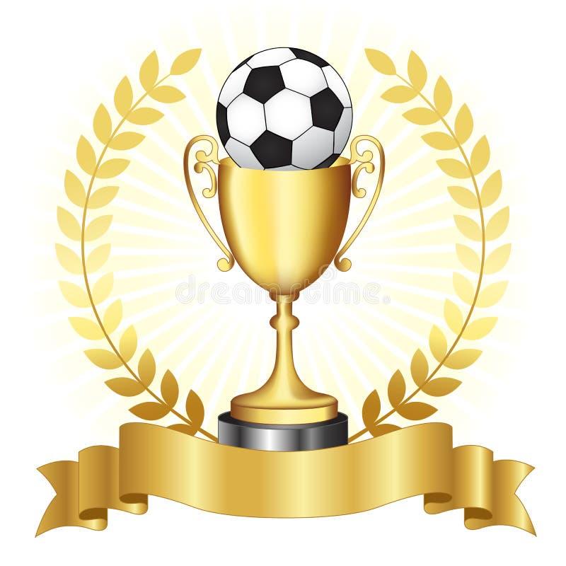 Χρυσό τρόπαιο πρωταθλήματος ποδοσφαίρου ελεύθερη απεικόνιση δικαιώματος