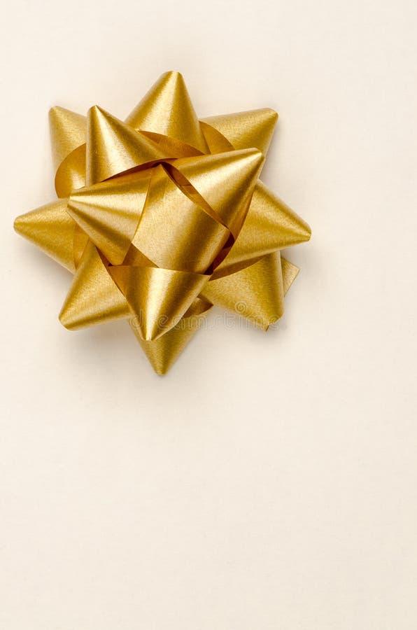 Χρυσό τόξο Χριστουγέννων στοκ φωτογραφίες με δικαίωμα ελεύθερης χρήσης
