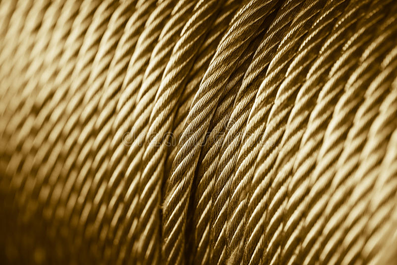 Χρυσό τύμπανο σφεντονών σχοινιών χρώματος στοκ εικόνες με δικαίωμα ελεύθερης χρήσης