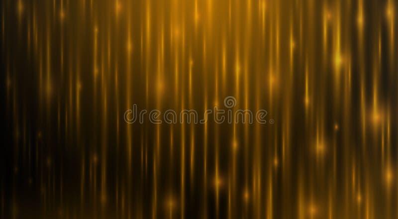 Χρυσό υπόβαθρο γραμμών με το φωτεινό σπινθήρα αύρας στην αρμονία απεικόνιση αποθεμάτων