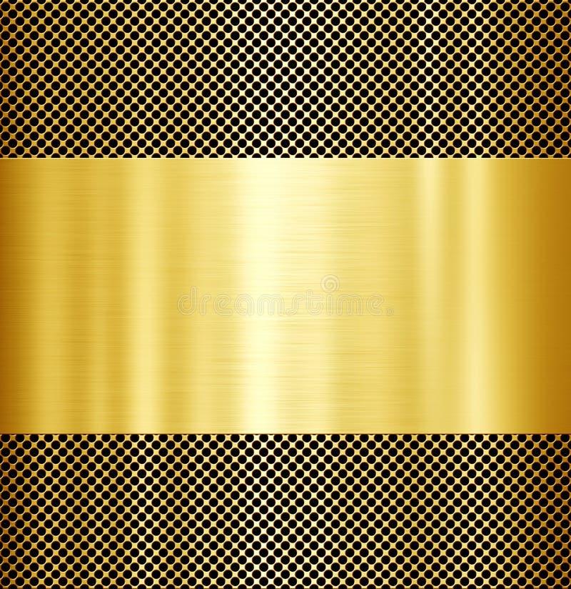 Χρυσό υπόβαθρο μετάλλων στοκ φωτογραφία με δικαίωμα ελεύθερης χρήσης