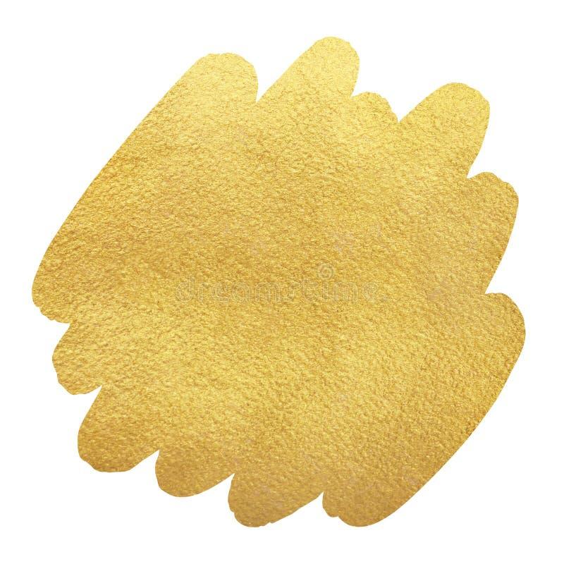 Χρυσό, χρυσό υπόβαθρο μορφής κτυπήματος βουρτσών ελεύθερη απεικόνιση δικαιώματος
