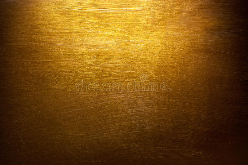 Χρυσό υπόβαθρο σύστασης ζωγραφικής στοκ εικόνα