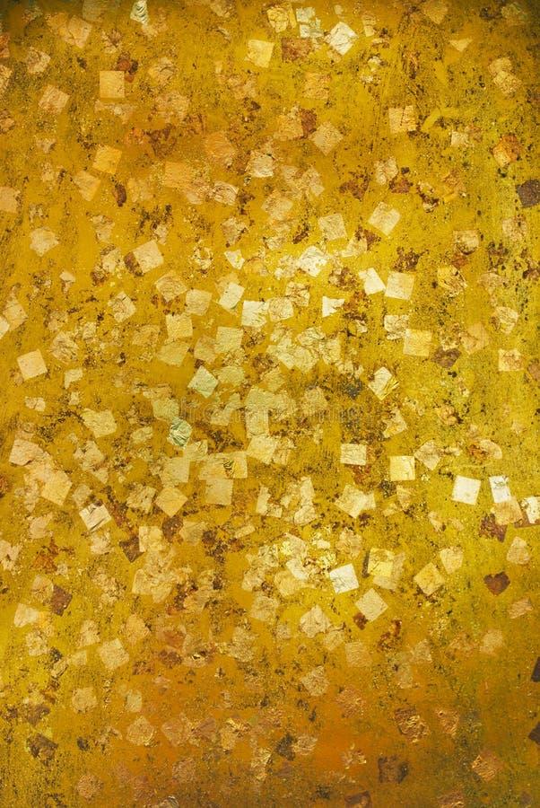Χρυσό φύλλο, χρυσή σύσταση φύλλων αλουμινίου στοκ φωτογραφία με δικαίωμα ελεύθερης χρήσης