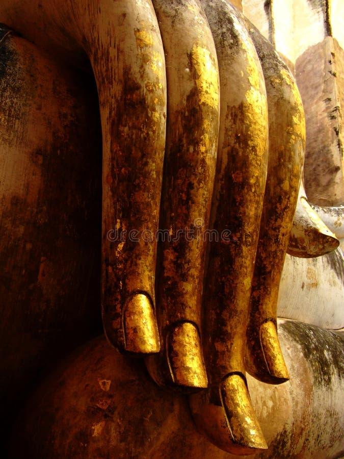 Χρυσό χέρι του Βούδα στοκ εικόνες