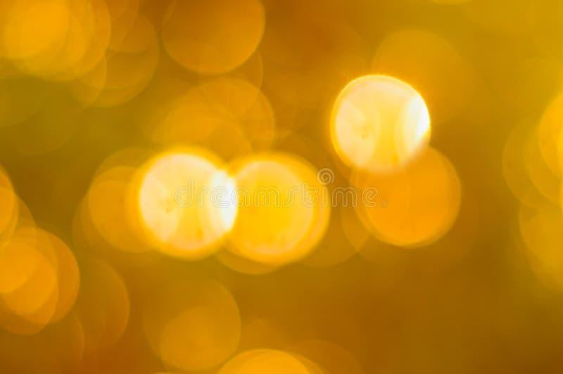 Χρυσό χρώμα Bokeh ελεύθερη απεικόνιση δικαιώματος