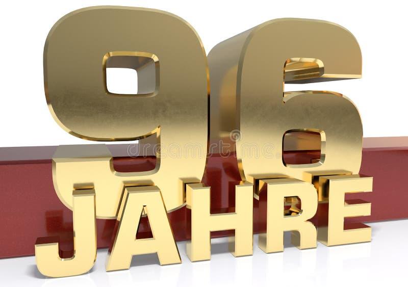 Χρυσό ψηφίο ενενήντα έξι και η λέξη του έτους Μεταφρασμένος για απεικόνιση αποθεμάτων
