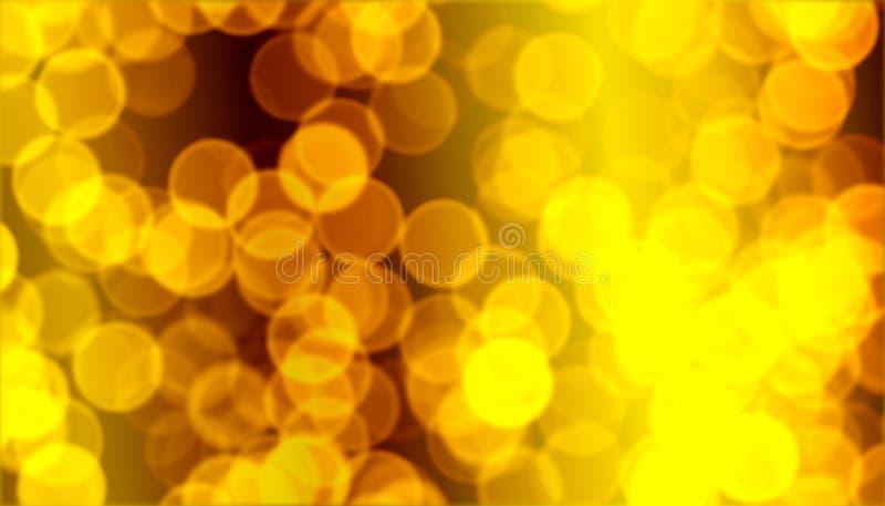 Χρυσό bokeh Χριστουγέννων στοκ φωτογραφία