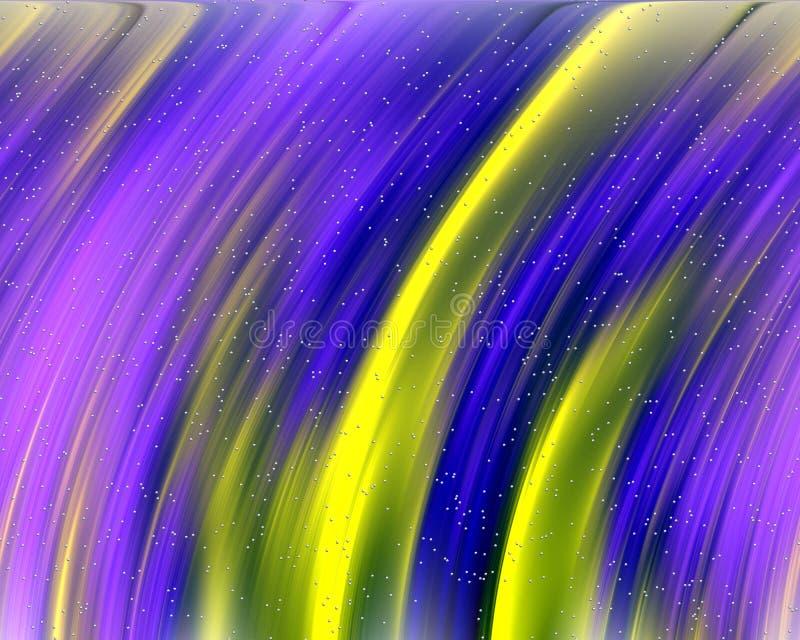 Χρυσό fractal στο μπλε υπόβαθρο, flowery γεωμετρία διανυσματική απεικόνιση