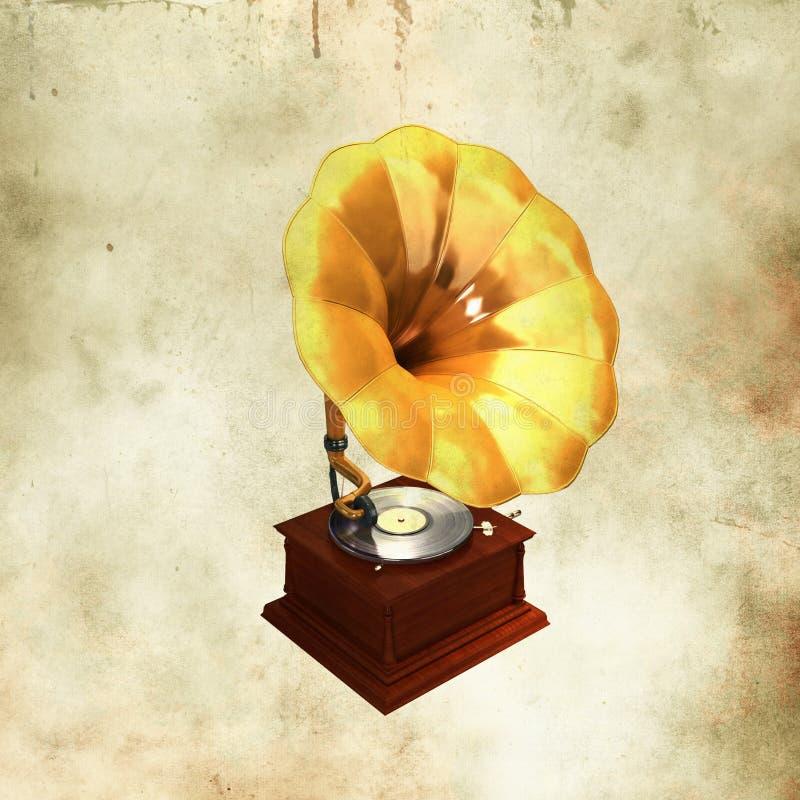 Download χρυσό Gramophone αναδρομικό Στοκ Εικόνες - εικόνα από imagery, φωνογράφος: 22783706