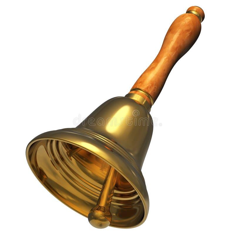 χρυσό handbell Χριστουγέννων απεικόνιση αποθεμάτων