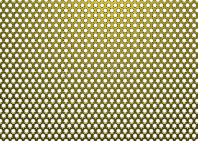 χρυσό hexagon λευκό μετάλλων ελεύθερη απεικόνιση δικαιώματος
