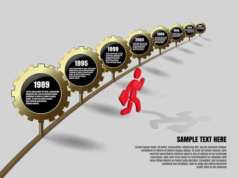 Χρυσό infographics εργαλείων απεικόνιση αποθεμάτων