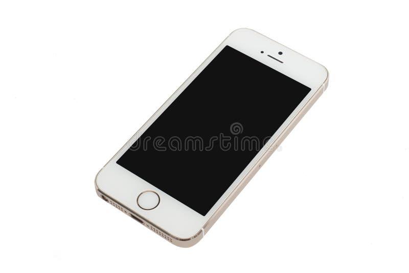Χρυσό iPhone της Apple 5S στοκ εικόνες με δικαίωμα ελεύθερης χρήσης