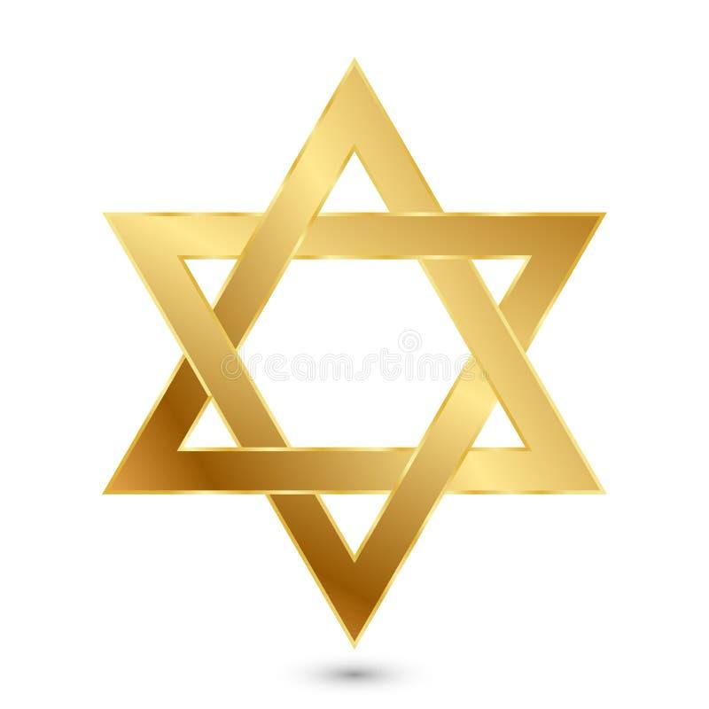 Χρυσό Magen Δαβίδ (αστέρι του Δαυίδ) απεικόνιση αποθεμάτων