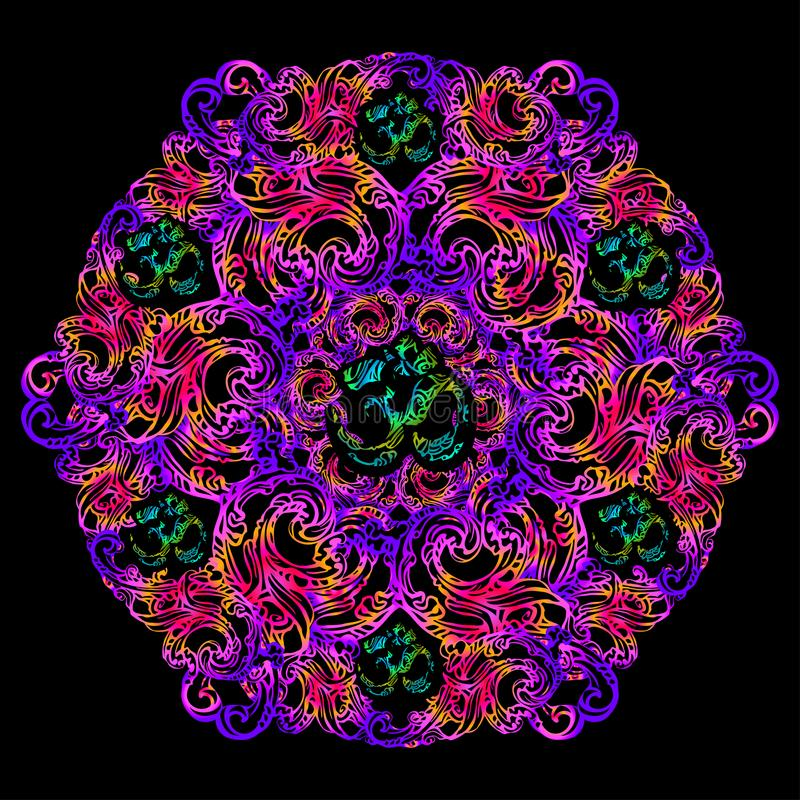 Χρυσό mandala του OM διανυσματική απεικόνιση