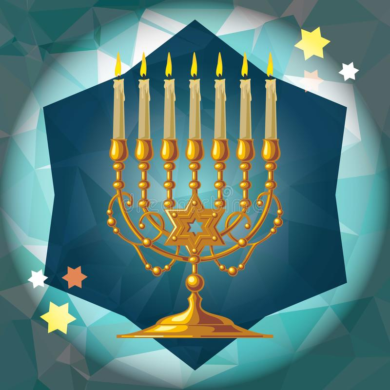 χρυσό menorah απεικόνιση αποθεμάτων