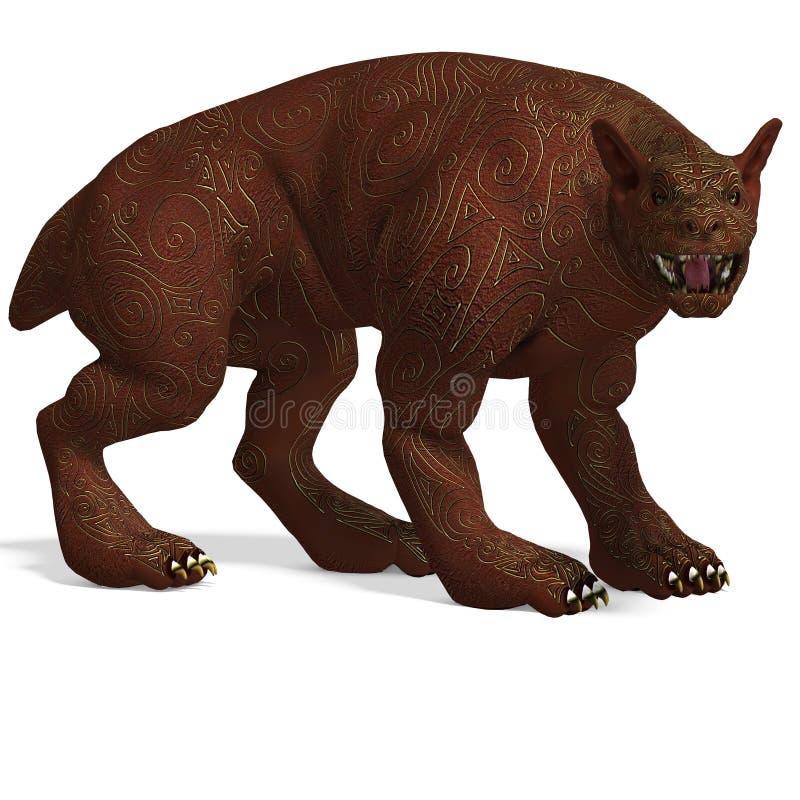 χρυσό mythologic δέρμα σκυλιών πλα&sig απεικόνιση αποθεμάτων