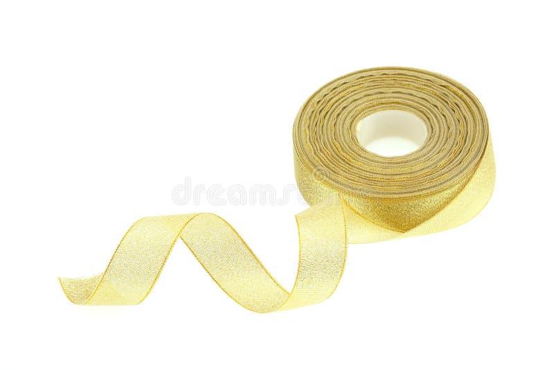 Χρυσό serpentine κορδελλών στοκ εικόνες με δικαίωμα ελεύθερης χρήσης