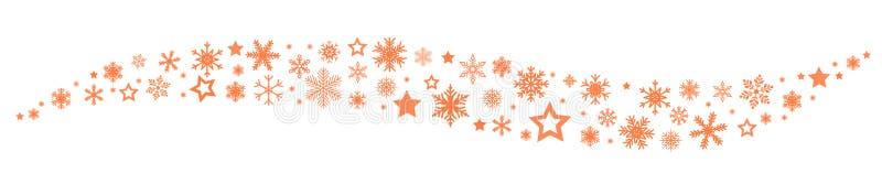 Χρυσό snowflake κυμάτων υπόβαθρο - διάνυσμα απεικόνιση αποθεμάτων