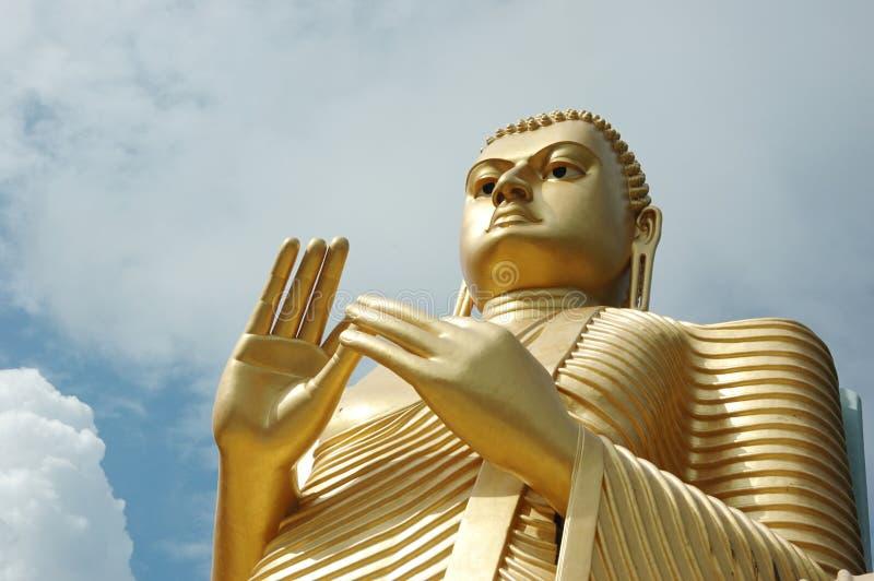 χρυσό sri lanka dambulla του Βούδα στοκ εικόνα με δικαίωμα ελεύθερης χρήσης